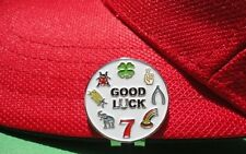 Good Luck Golf Ball Marker - W/Bonus Magnetic Hat Clip