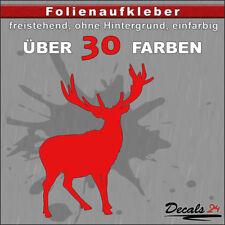 TR2 - Hirsch Aufkleber Folienaufkleber Auto Wand Motiv - 30 Farben - H: 5-10cm