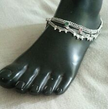 Fatto a mano tradizionale indiano tono argento CAVIGLIERE Cavigliera Caviglia Catena India Tibet