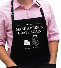 Make America Grate Again Funny Novelty Apron Gift for Dad, Trump, Fathers Day