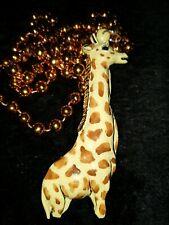 2002 Krewe of Bacchus Giraffe Float Bead Mardi Gras Through Africa