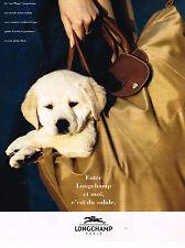 PUBLICITE ADVERTISING 074  1994  LONGCHAMP   le sac pliage            090714