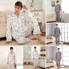Men Patchwork Short Sleeve Tops with Elastic Waist Shorts Pajamas Sets EH7E 03