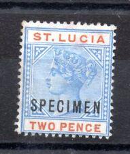 More details for st lucia qv 2d mint mh 'specimen' ws11756