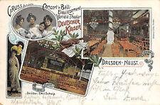 Dresden - Neustadt Restaurant Deutsche Kaiser Litho Postkarte 1905