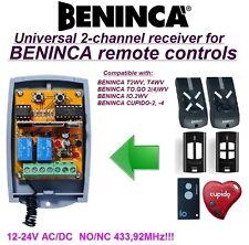 BENINCA T2WV / TO.GO2WV / IO.2WV / CUPIDO-2 compatibile 2-canali ricevitore
