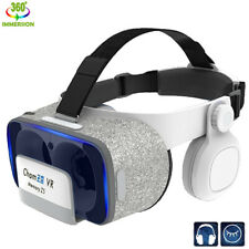 VR Headset w/ Headphones Movies Games Virtual Reality 3D Glasses for Android iOS