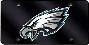 Philadelphia Eagles Black Laser Tag License Plate