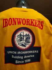 Union Ironworkers   structural reinforcing ornamental  long sleeve size XL