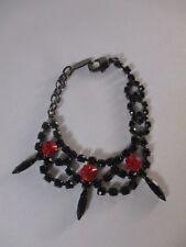 JOOMI LIM Black crystal RED Spike Bracelet NWOT $195