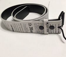 Urban Heritage White Mens Belt Newspaper Designed Size Large