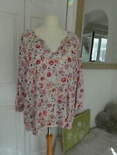 Ladies multi coloured loose tunic top size 20 from Indigo with unusual sleeve