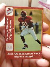 Ed Williams Split End Iowa State Cyclones Football Card 1996 Cyclone Clothing Co