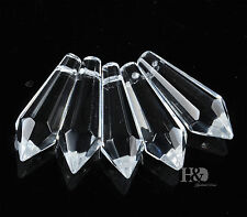 100PCS Lot Glass pointed Drops Chandelier Pendants Water Prisms Crystal Bead Lot