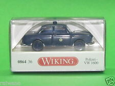 "1:87 Wiking 086436 Polizei - VW 1600 Limousine ""Berlin"" Blitzversand DHL-Paket"
