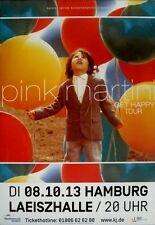 PINK MARTIN - 2013 - Konzertplakat - Get Happy - Tourposter - Hamburg