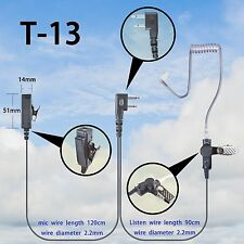 2-wire Headset Earphone mic For Icom IC-F3001 IC-F4001 IC-F4011 walkie talkie