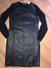 NWT Polo Ralph Lauren Lamb Leather/Cashmere Dress sz S