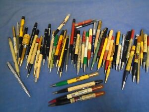 LOT 55 VINTAGE MECHANICAL PENCILS  ADVERTISING MOST ILLINOIS