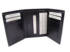HOMME DESIGN haute qualité Noir TROIS pli Cuir Portefeuille porte-cartes