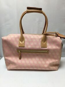 Dooney & Bourke Pink Logo Small Duffle Satchel Purse Bag  EUC!