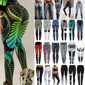 YOFIT Women Pattern Printed Leggings High Waist Jogger Comfot Pants GYM Trousers