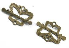 Retro 6 Sets Antique Bronze Jewelry Making Findings Butterfly Toggle Clasps