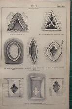 1850 ANTIQUE GOTHIC ARCHITECTURE PRINT ~ WINDOWS GABLE YORK ST NICOLAS BEVERLEY