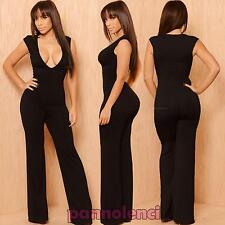 Overall woman onesie jumpsuit trousers V-neck suit party new DL-1681