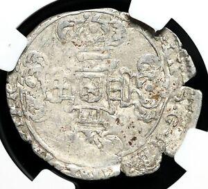 SPANISH NETHERLANDS. Philip IV, 1621-1665, Silver 3 Stuivers, NGC AU50