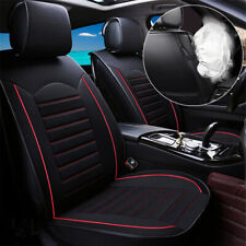 Universal 5-Seats Black Linen Car Seat Cover Cushion Set Front +Rear Accessories