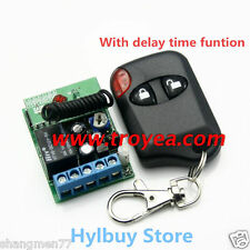 DC 12v Wireless Remote Control Relay Switch Delay Turn On off Adjustable timer