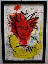 Art brut contemporain - Tableau encadré, verni -.
