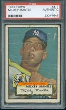 1952 Topps 311 Mickey Mantle PSA 0 (4645)