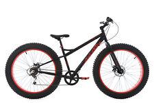 "Mountainbike Hardtail 26"" Fatbike SNW2458 MTB Schwarz-Rot 6 Gänge 225M"