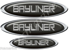 Two Bayliner oval stickers for boat restoration 10 inch long