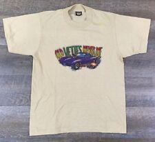 True Vintage Deadstock 1970s Chevy Corvette t-shirt M Glitter Print Screen Stars