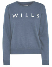 Jack Wills Pulborough Sweatshirt Jumper Womens Ladies Size UK 14 Blue *Ref183