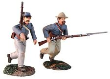 BRITAINS CIVIL WAR CONFEDERATE 31149 AT THE DOUBLE QUICK CHARGING SET MIB