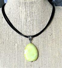 Serpentine Necklace Chakra Usa Natural Gemstone Yellow Turquoise