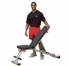 Body Solid Folding Multi Bench Weights Gym Workout Commercial Grade GFID225