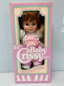 """VTG IDEAL Baby Crissy 24""""  Brand New In Original Box Opened Unplayed Doll 1972"""