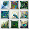 Peacock Feather Pillowcase Cushion Cover Home Decor Throw Pillow Case Lounge