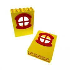 4 blanc et rouge fabuland Portes-GMT291 Lego