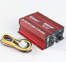 Car Stereo Amplifier 2 Channel 12V Amp Electrical Hi-Fi Mini 500W Bass Subwoofer