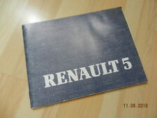 notice d'utilisation RENAUT 5 1984