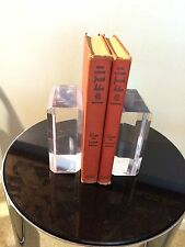Excellent Pair of Karl Springer Lucite Bookends, Mid-Century Modern