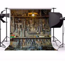Studio 8x8ft Vinyl Background Car Repair Tools Photo Backdrop Photography Props
