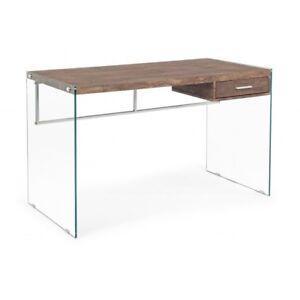 Desk 1 Drawer Suami Oak 122X60, Color Brown