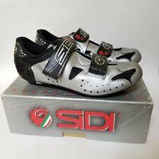 NEW Sidi Womens 41.5 Dynamic 3 Cycling Road Shoes Mesh Silver Black Strap Box